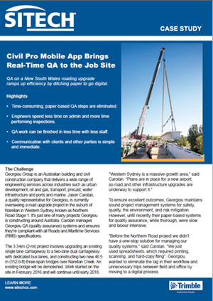 Civil Pro Mobile App Brings Real-Time QA to the Job Site